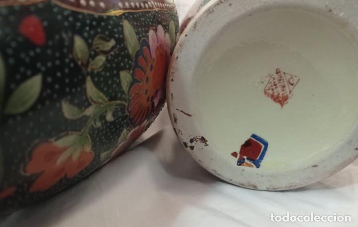 Antigüedades: PAREJA JARRONES CHINOS SELLO ROJO - Foto 9 - 266779914