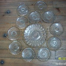 Antigüedades: ANTIGUOS PLATOS DE CRISTAL TALLADOS. Lote 266881554