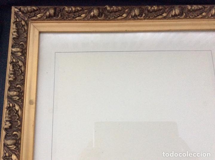 Antigüedades: Impresionante y antiguo marco de madera tallada y dorada para fofografia/espejo. - Foto 2 - 266909754