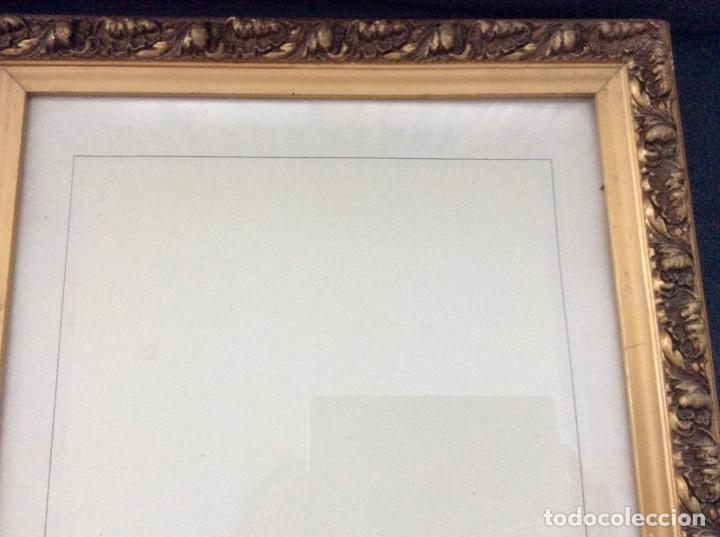 Antigüedades: Impresionante y antiguo marco de madera tallada y dorada para fofografia/espejo. - Foto 3 - 266909754