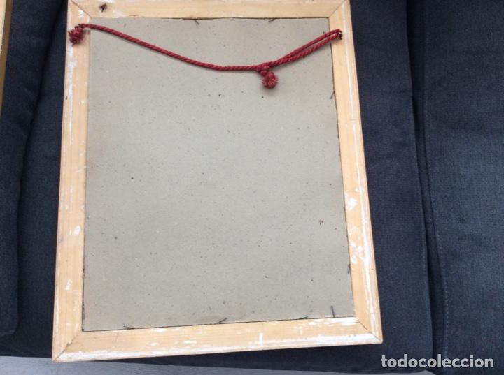 Antigüedades: Impresionante y antiguo marco de madera tallada y dorada para fofografia/espejo. - Foto 7 - 266909754