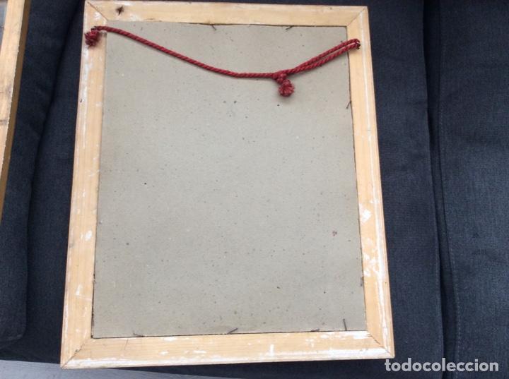 Antigüedades: Impresionante y antiguo marco de madera tallada y dorada para fofografia/espejo. - Foto 14 - 266909754