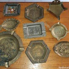 Antigüedades: LOTE DE 9 CENICEROS ANTIGUOS. Lote 266913379