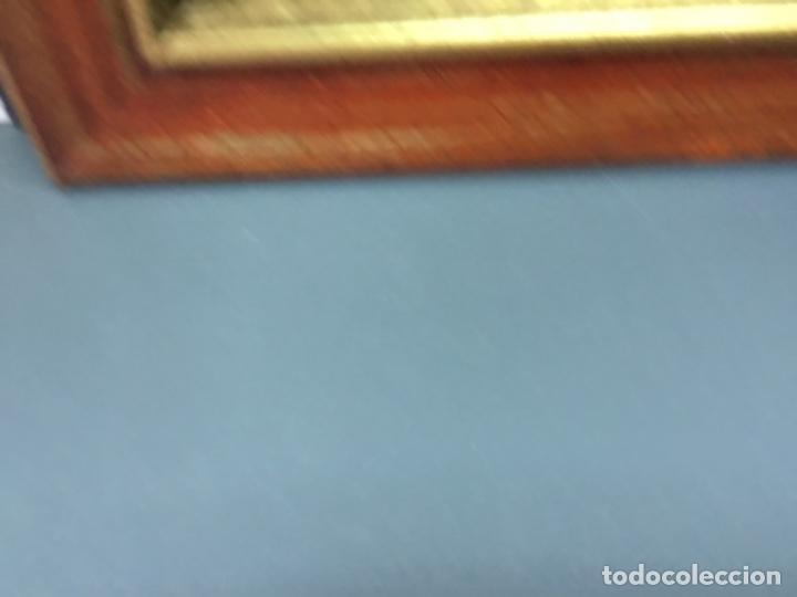 Antigüedades: Precioso Marco moldura madera oro y granate - Foto 3 - 266919469