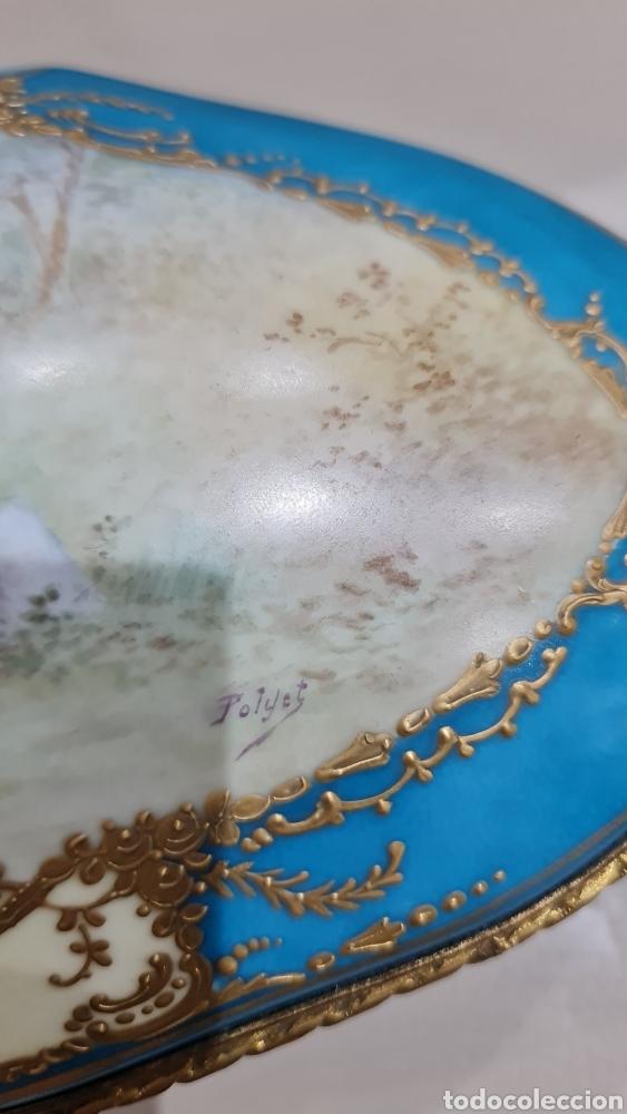 Antigüedades: JOYERO DE PORCELANA DE LA MANUFACTURA SEVRES, SIGLO XIX - Foto 4 - 266975084