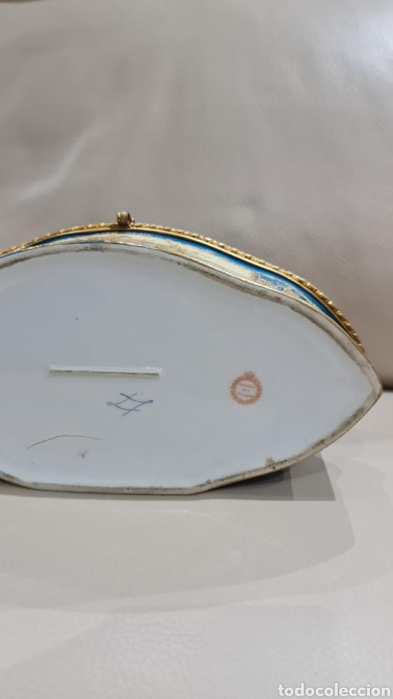 Antigüedades: JOYERO DE PORCELANA DE LA MANUFACTURA SEVRES, SIGLO XIX - Foto 10 - 266975084