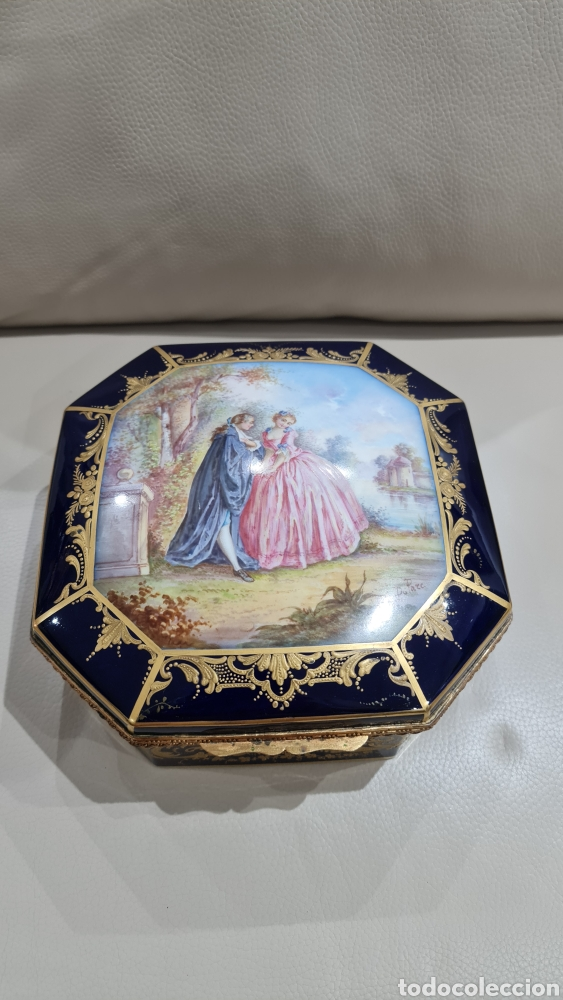 PRECIOSO JOYERO DE PORCELANA SEVRES, SIGLO XIX (Antigüedades - Porcelana y Cerámica - Francesa - Limoges)