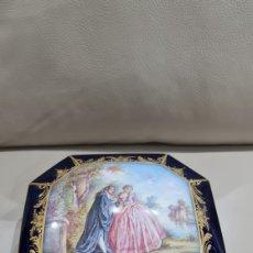 Antigüedades: PRECIOSO JOYERO DE PORCELANA SEVRES, SIGLO XIX. Lote 266976559