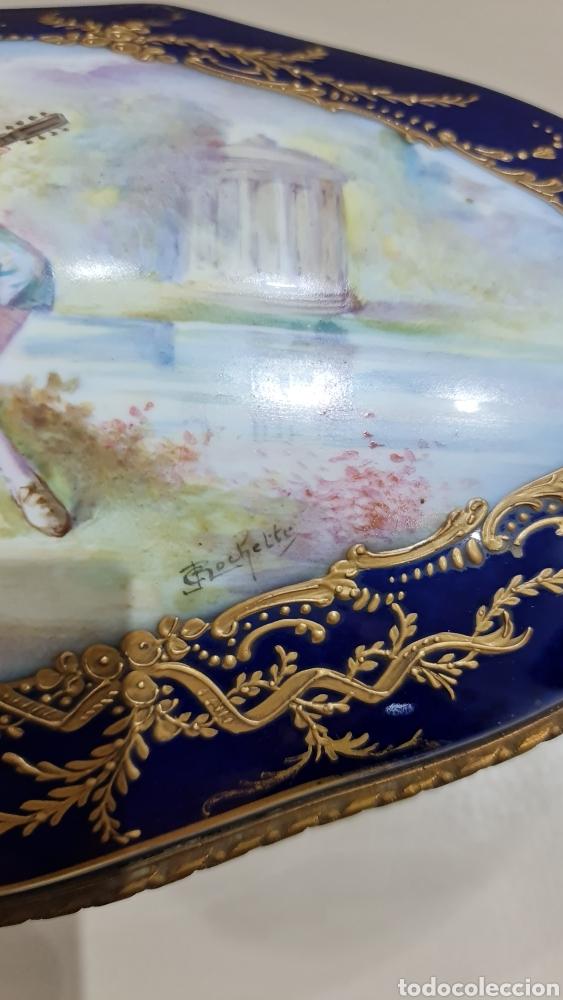 Antigüedades: GRAN JOYERO DE PORCELANA SEVRES, SIGLO XIX - Foto 3 - 266977164