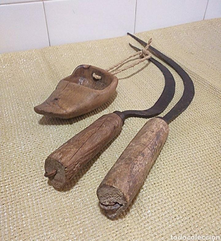 Antigüedades: Lote segar, segador, zoqueta, hoz, con sello - Foto 10 - 266985284