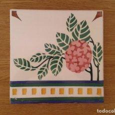 Antigüedades: A7 AZULEJO ANTIGUO MODERNISTA ART NOUVEAU FLOR CINE. Lote 266993654