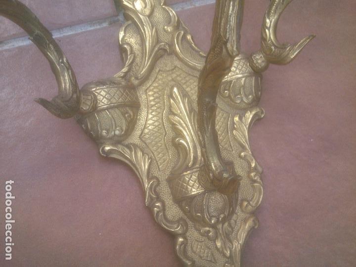 Antigüedades: GRAN ANTIGUO APLIQUE DE PARED EN BRONCE - Foto 2 - 266998634