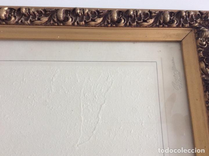 Antigüedades: Impresionante y antiguo marco de madera tallada y dorada para fofografia/espejo. - Foto 16 - 266909754