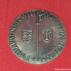 Antigüedades: MEDALLA DE PLATA KONGRESS MUNCHEN EUCHARISTISCHER WELT 1960. Lote 267002654