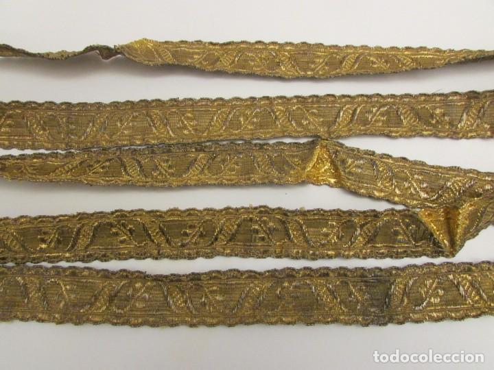 GALON DE HOJILLA ORO S. XVIII-XIX (Antigüedades - Religiosas - Ornamentos Antiguos)