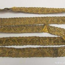 Antiguidades: GALON DE HOJILLA ORO S. XVIII-XIX. Lote 267049374