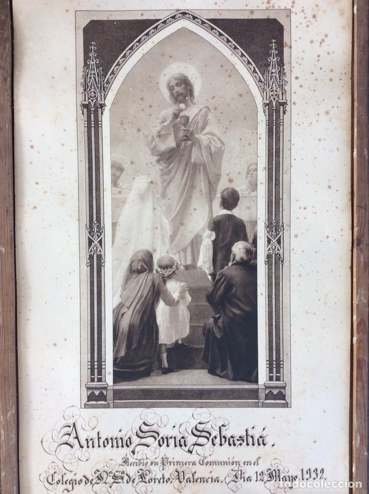 GRABADO ANTIGUO PRIMERA COMUNIÓN (Antigüedades - Religiosas - Varios)