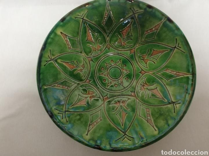 Antigüedades: FUENTE PLATO DE CERAMICA VIDRIADA. UBEDA. GONGORA. 30CM. - Foto 6 - 267132084