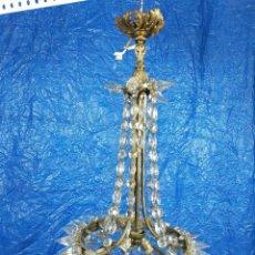 Oggetti Antichi: LAMPARA DE TECHO CRISTALES. Lote 267132419