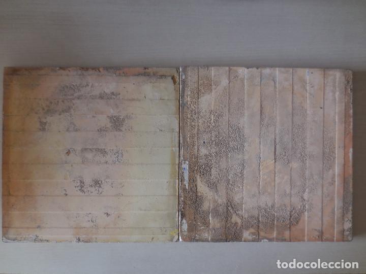Antigüedades: DOS AZULEJOS. MANISES. PRINC. SIGLO XX. ORIGINAL¡¡¡ - Foto 2 - 267181934