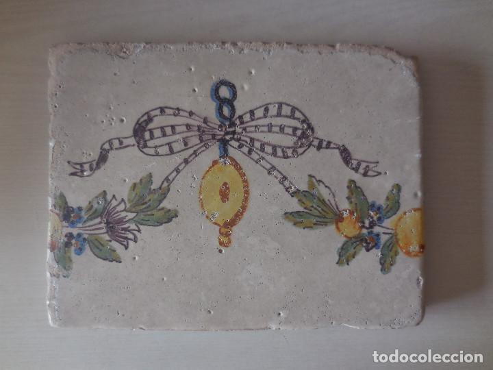 AZULEJO. FÁBRICA DE VALENCIA. FINAL SIGLO XVIII. ORIGINAL¡¡¡¡ (Antigüedades - Porcelanas y Cerámicas - Azulejos)