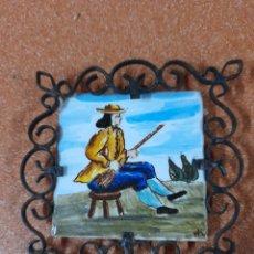 Antigüedades: AZULEJO OLAMBRILLA SERIE CAZADOR. Lote 267195404