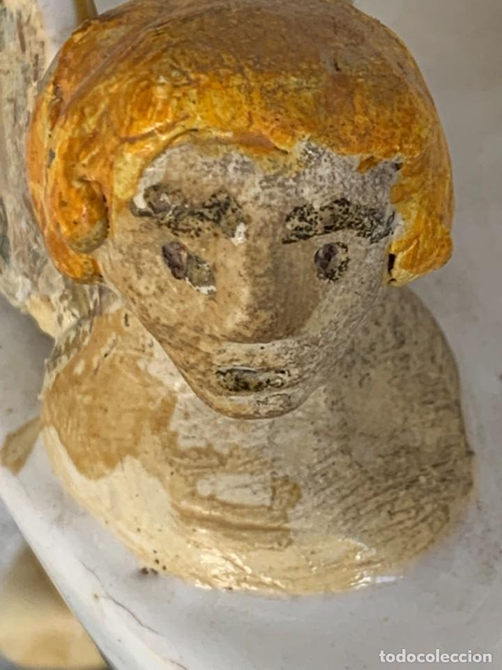 Antigüedades: JARRON DECORATIVO ANDALUCIA CERAMICA VIDRIADA VARIOS ANGELES BODA SIMILAR AJUAR ANDUJAR JAEN 44X21C - Foto 12 - 267236629