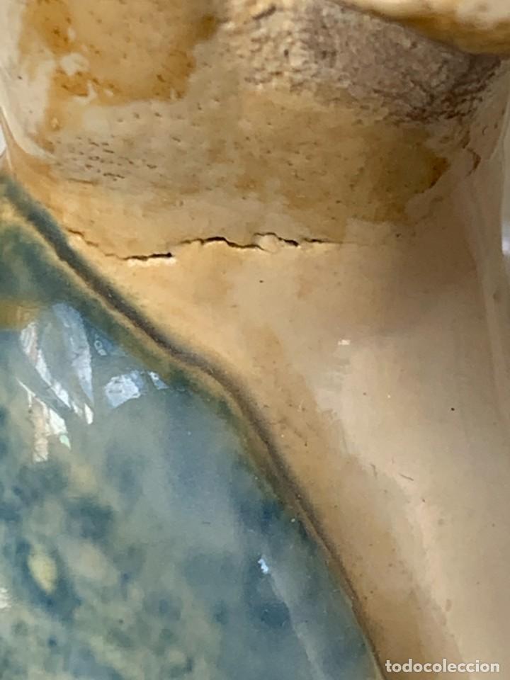 Antigüedades: JARRON DECORATIVO ANDALUCIA CERAMICA VIDRIADA VARIOS ANGELES BODA SIMILAR AJUAR ANDUJAR JAEN 44X21C - Foto 20 - 267236629