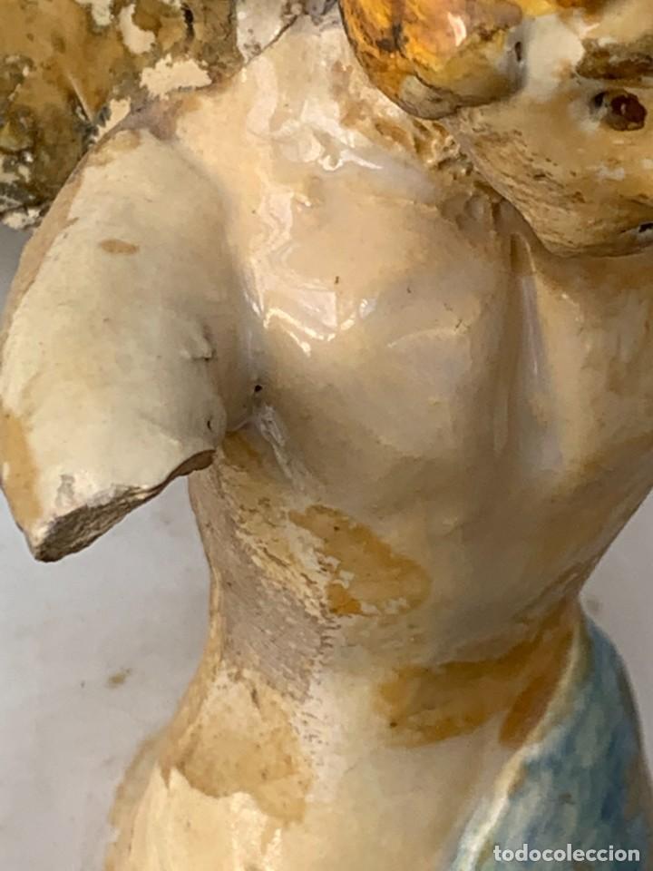Antigüedades: JARRON DECORATIVO ANDALUCIA CERAMICA VIDRIADA VARIOS ANGELES BODA SIMILAR AJUAR ANDUJAR JAEN 44X21C - Foto 23 - 267236629