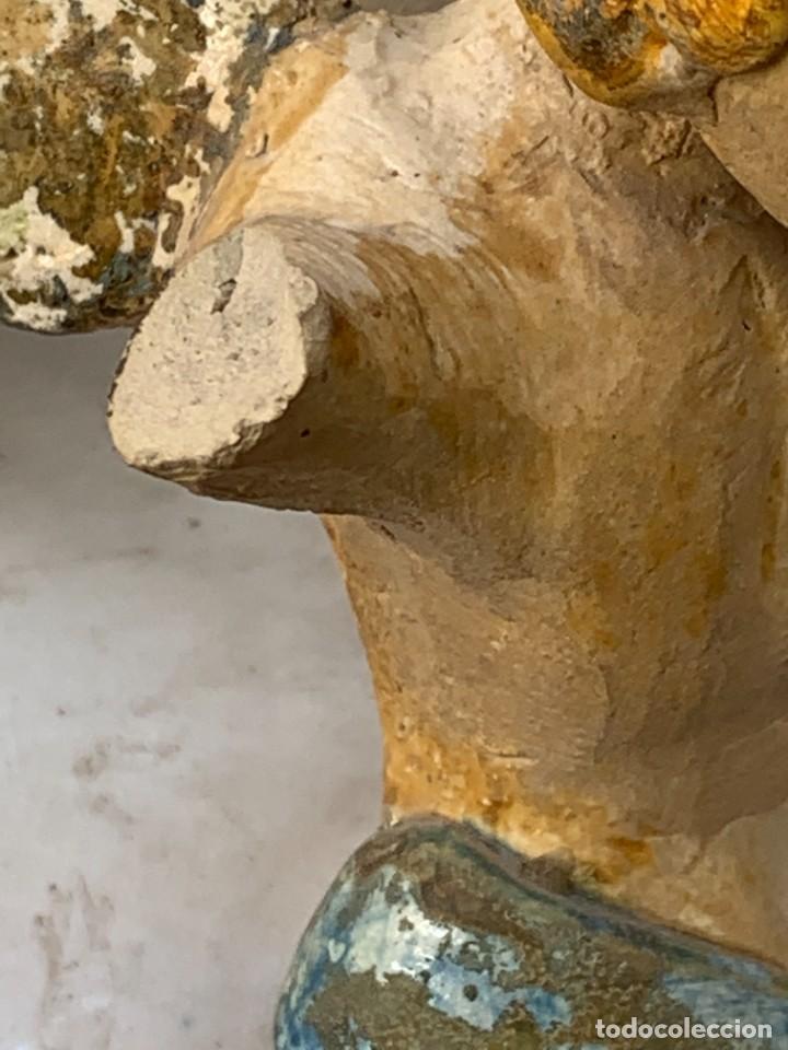 Antigüedades: JARRON DECORATIVO ANDALUCIA CERAMICA VIDRIADA VARIOS ANGELES BODA SIMILAR AJUAR ANDUJAR JAEN 44X21C - Foto 28 - 267236629