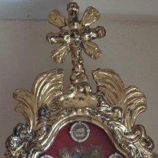 Antigüedades: (ANT-210601)RELICARIO DE MADERA PARA PROCESION SIGLO XIX-GRANDES DIMENSIONES. Lote 267239949