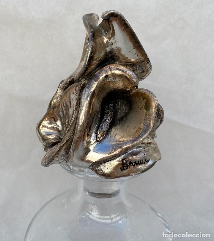 Antigüedades: PAOLO BERTONI. Licorera Paolo Bertoni con plata - Foto 3 - 267285834