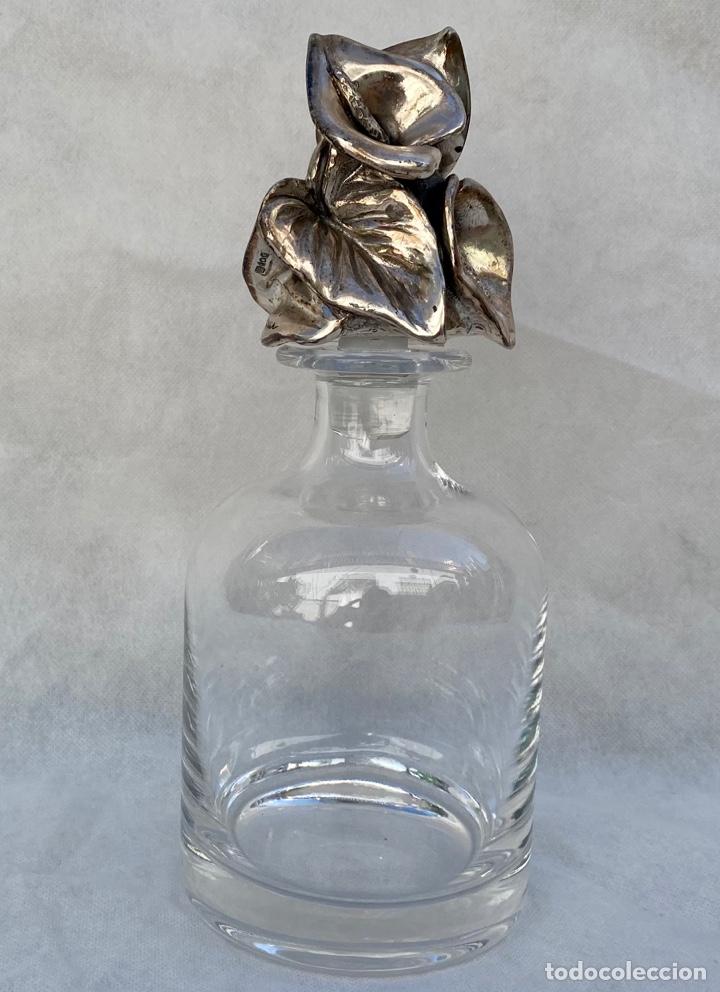 Antigüedades: PAOLO BERTONI. Licorera Paolo Bertoni con plata - Foto 5 - 267285834
