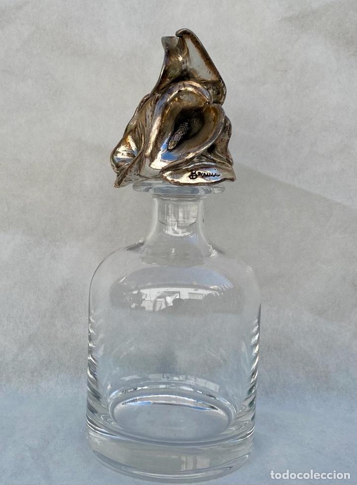 PAOLO BERTONI. LICORERA PAOLO BERTONI CON PLATA (Antigüedades - Cristal y Vidrio - Italiano)