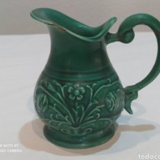 Antigüedades: PRECIOSA JARRA VERDE DE MANISES ANTIGUA. Lote 267360609