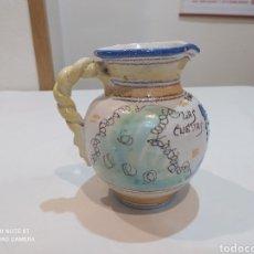 Antigüedades: IMPRESIONANTE JARRA ANTIGUA PUENTE DEL ARZOBISPO ... LAS CUEVAS ROBADO EN DE LUIS CANDELAS. Lote 267362549