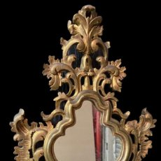 Antiquités: ANTIGUA CORNUCOPIA DE MADERA DORADA AL ORO FINO. 64X37. S.XIX.. Lote 267445074