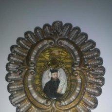 Antiguidades: ANTIGUA RELIQUIA SAN IGNACIO DE LOYOLA - SIGLO XVIII - EXCEPCIONAL.. Lote 267449039