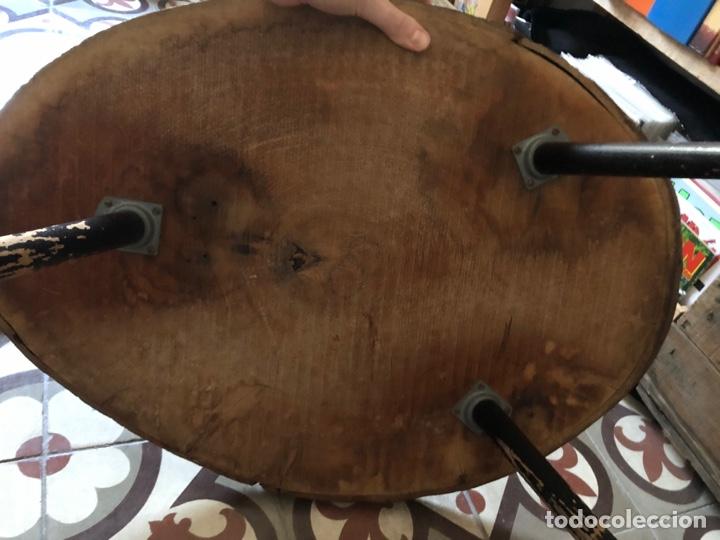 Antigüedades: Mesa auxiliar antigua de madera y hierro - Foto 5 - 267461329