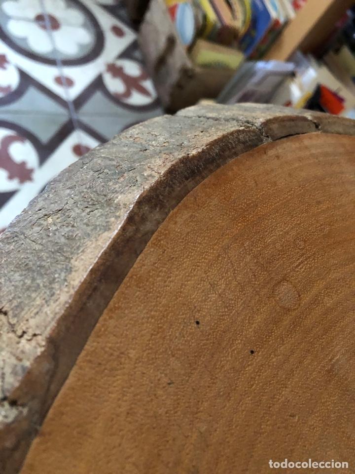 Antigüedades: Mesa auxiliar antigua de madera y hierro - Foto 6 - 267461329
