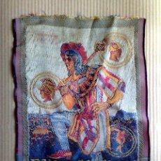 Antigüedades: ANTIGUO TAPIZ ORIGINAL DE LA EXPOSICIÓN INTERNACIONAL BARCELONA 1929 (36,5CM. X 25CM.). Lote 267464604