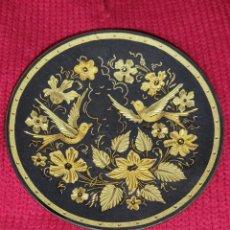 Antigüedades: DEJALLAVES,PEQUEÑO PLATO DAMASQUINADO,TOLEDO. Lote 267477094