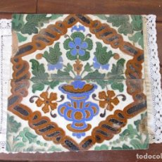 Antigüedades: PAREJA DE AZULEJOS RAMOS REJANO. Lote 267517009