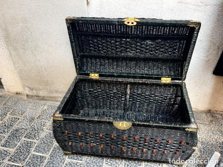 Antigüedades: Baul de mimbre - Foto 4 - 267528574