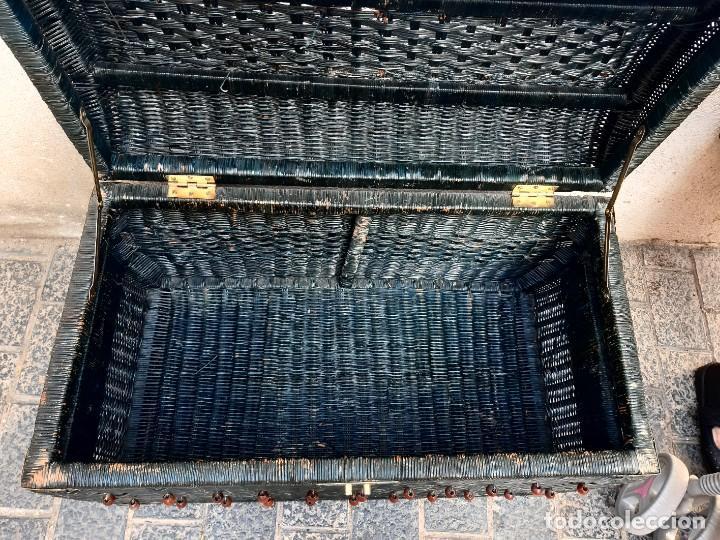 Antigüedades: Baul de mimbre - Foto 5 - 267528574
