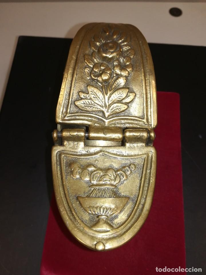 Antigüedades: PRECIOSA NAVETA INCENSARIO BRONCE DORADO. FINALES SIGLO XIX - Foto 4 - 267533954