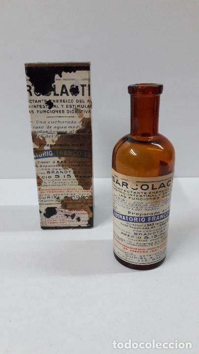Antigüedades: ANTIGUO MEDICAMENTO SARCOLACTINE ( FUNCIONES DIGESTIVAS ) . LABORATORIO FRANCO - ESPANOL - Foto 2 - 267539349