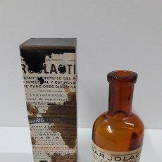 Antigüedades: ANTIGUO MEDICAMENTO SARCOLACTINE ( FUNCIONES DIGESTIVAS ) . LABORATORIO FRANCO - ESPANOL. Lote 267539349