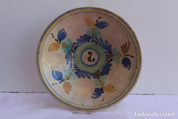 Antigüedades: PAREJA DE PLATOS DE CERAMICA DEL PUENTE DEL ARZOBISPO - Foto 2 - 267543449