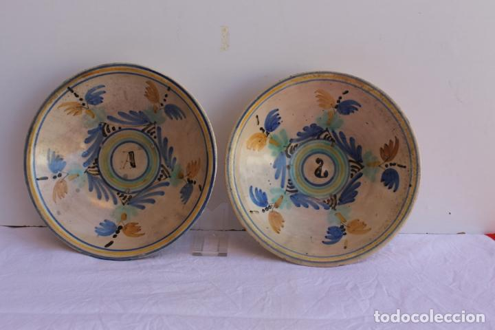 PAREJA DE PLATOS DE CERAMICA DEL PUENTE DEL ARZOBISPO (Antigüedades - Porcelanas y Cerámicas - Puente del Arzobispo )